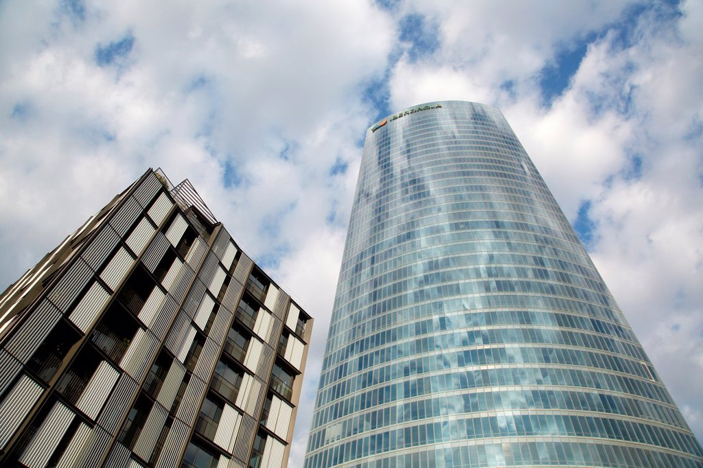 Stock Photo: 1566-1178356 Iberdrola tower, Bilbo-Bilbao, Biscay, Basque Country, Spain.