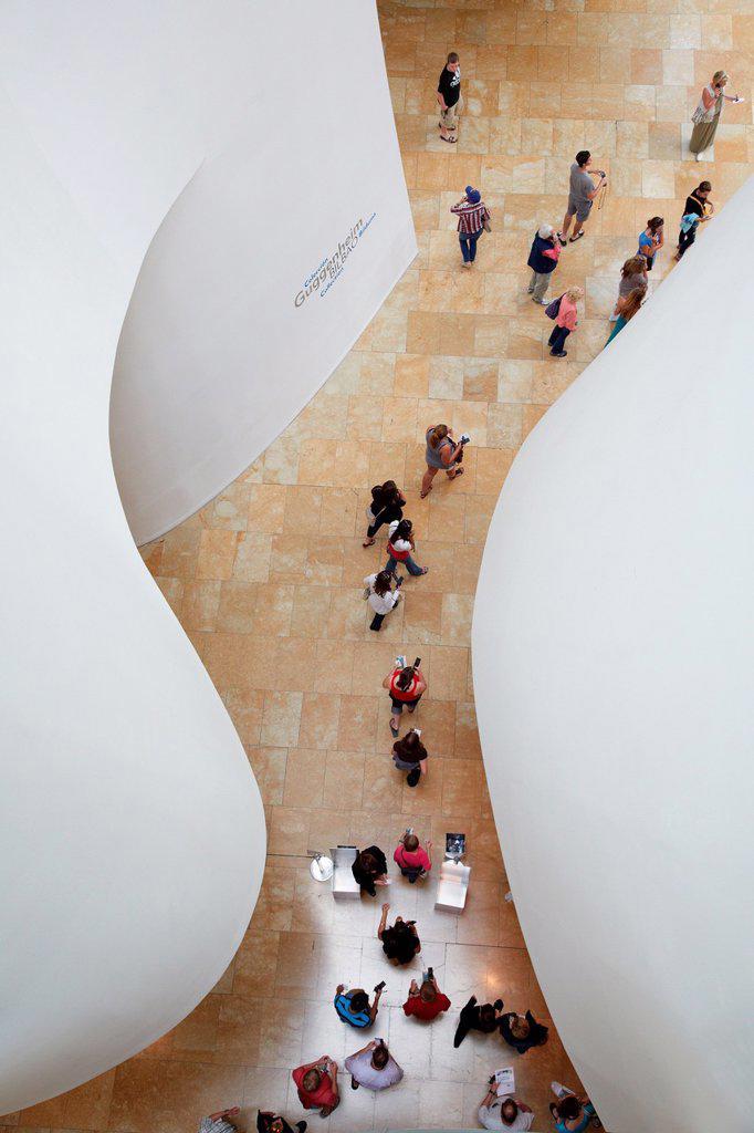Stock Photo: 1566-1178379 Guggenheim Museum, Bilbo-Bilbao, Biscay, Basque Country, Spain.