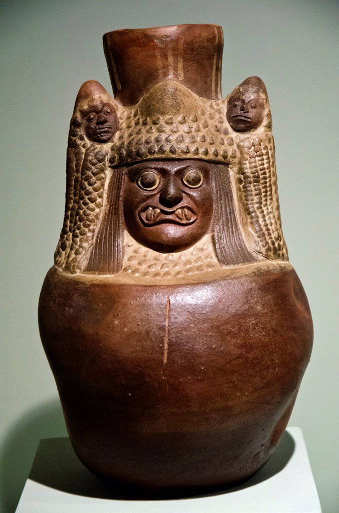 Stock Photo: 1566-1178573 Ceramic vessel  Moche culture 100 AC-800 AC  Perú