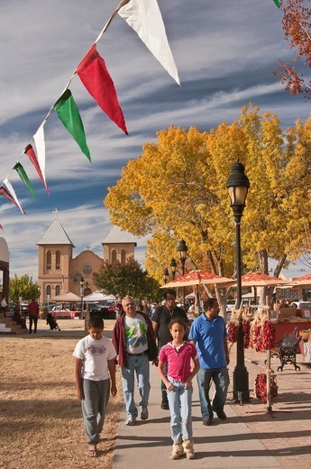 Street fair at Mesilla Plaza in town of Mesilla near Las Cruces, New Mexico, USA : Stock Photo