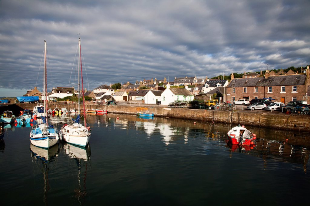 Stock Photo: 1566-1179804 Johnshaven Harbour at Sunrise Aberdeenshire Scotland
