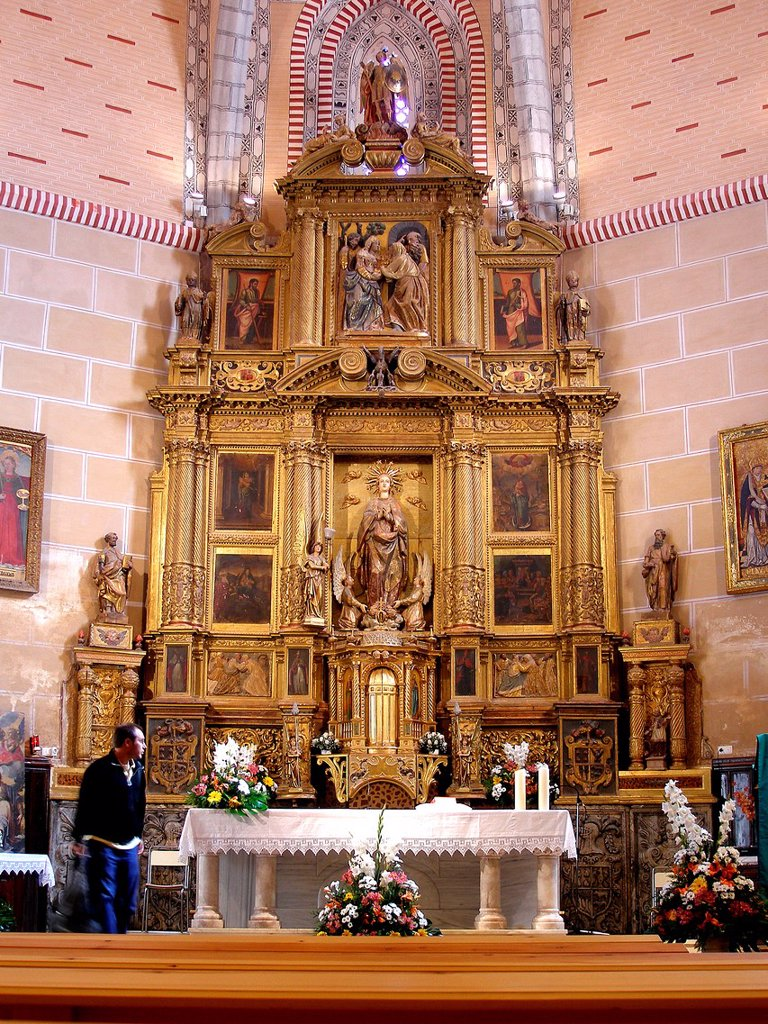 Altarpiece of Santa Justa and Rufina church  Maluenda  Zaragoza  Aragon  Spain : Stock Photo