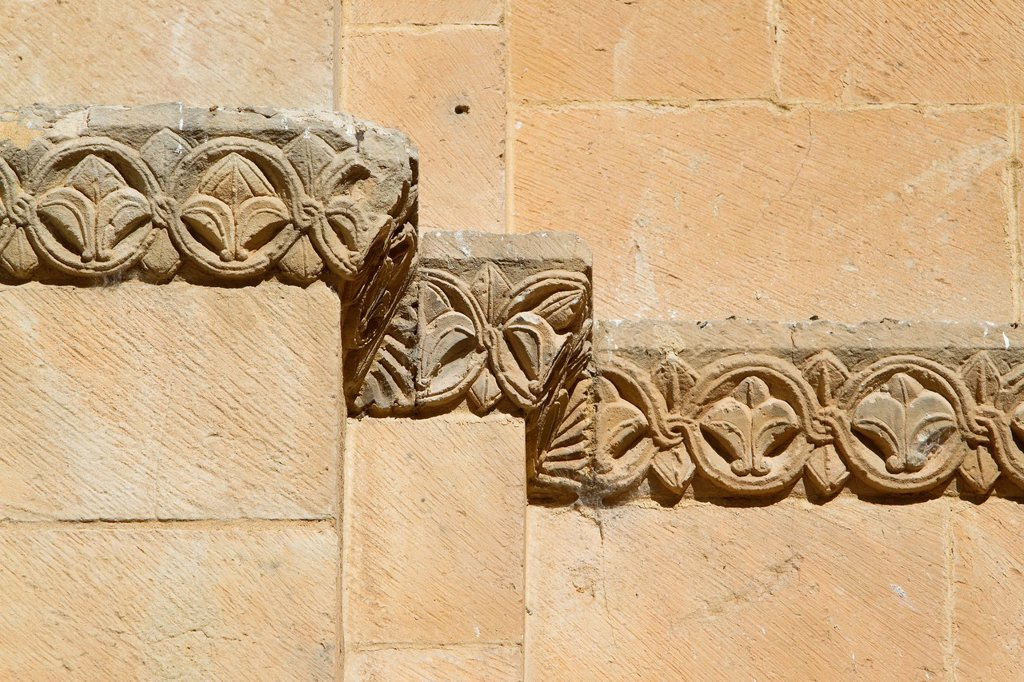 Stock Photo: 1566-1180688 Detail of Old Cathedral of Salamanca, city declarated World Heritage by UNESCO  Castilla y León  Spain