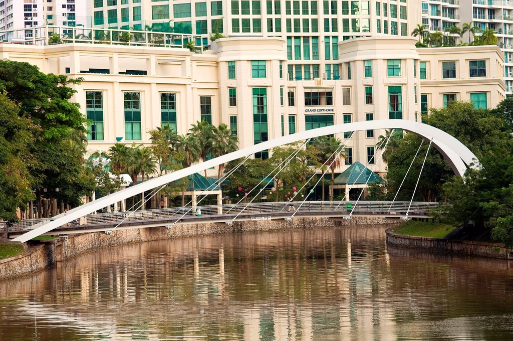 robertson bridge, singapore : Stock Photo