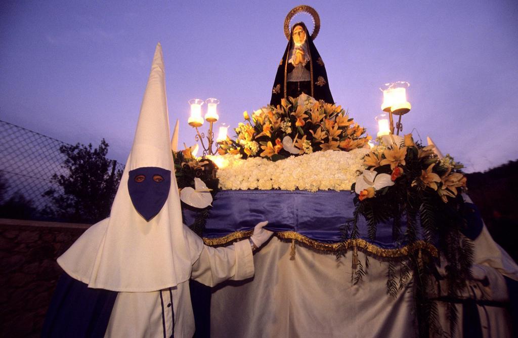 Stock Photo: 1566-1180819 Procesion good Friday  Ibiza, Balearic Islands  Spain