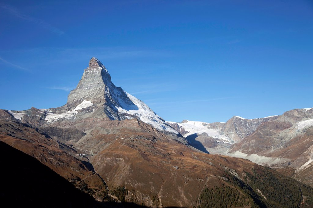 Stock Photo: 1566-1181832 Switzerland  Canton Valais  Zermatt  The Matterhorn.