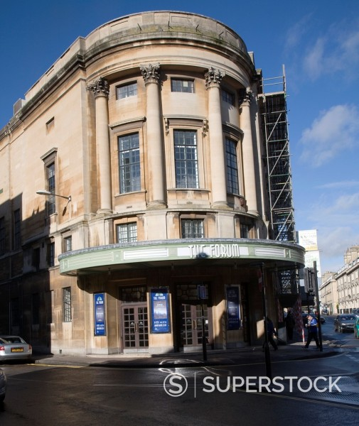 Stock Photo: 1566-1182000 The Forum 1930s former cinema building, Bath, Somerset, England