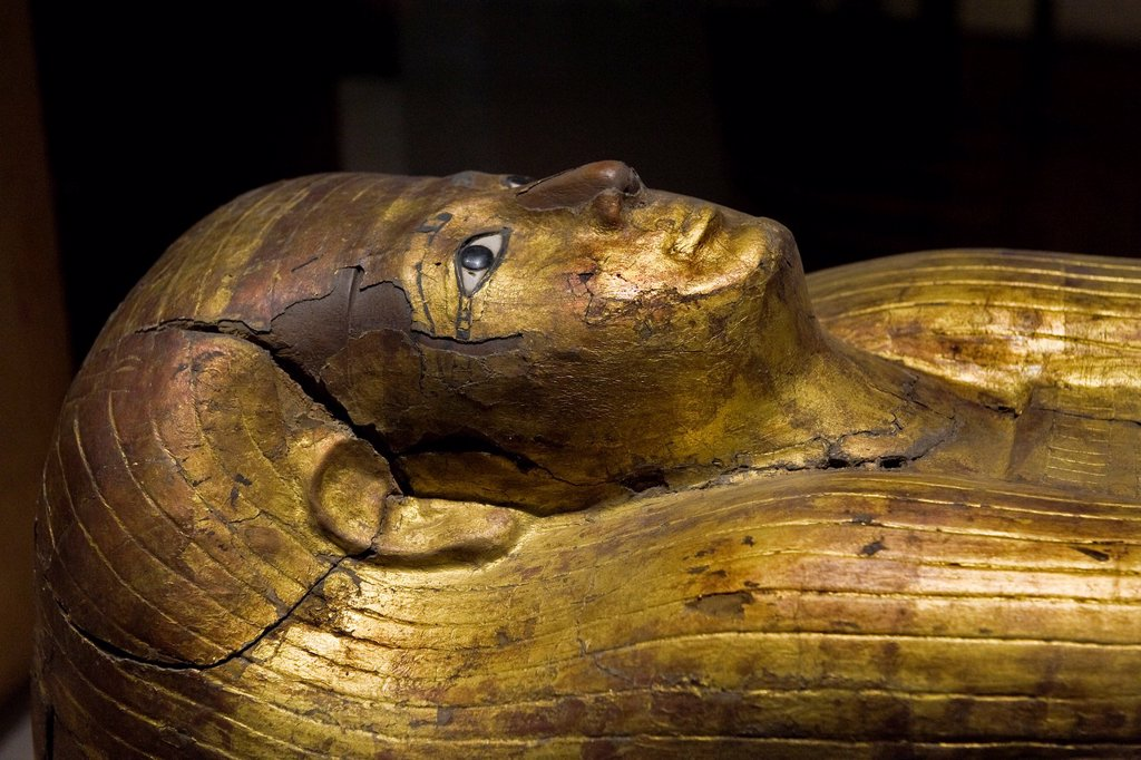 Stock Photo: 1566-1182049 Italy, Piedmont, Turin, Egyptian Museum, Merit sarcophagus