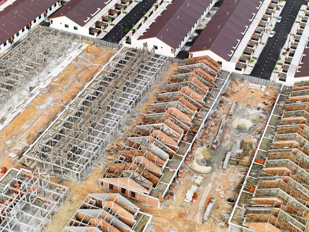 Stock Photo: 1566-1182288 Construction of suburban developments