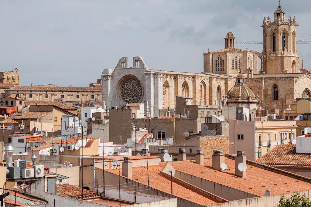 Stock Photo: 1566-1182497 tarragona,catalonia,spain general view