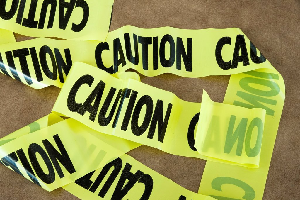 Stock Photo: 1566-1183018 A strip of ´Caution´ tape