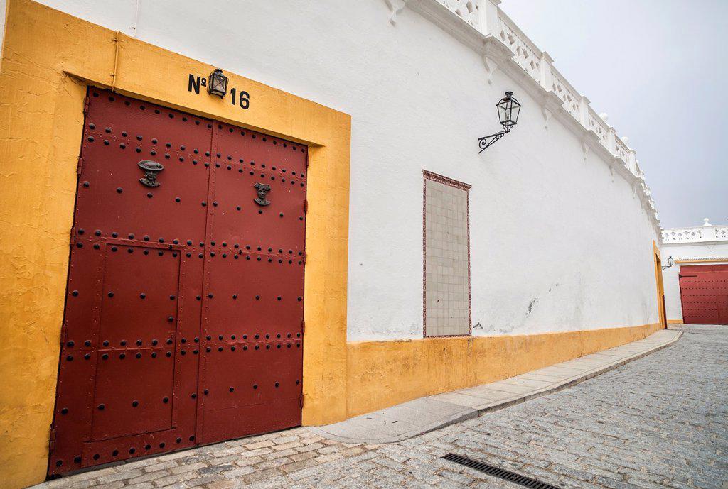 Stock Photo: 1566-1183953 sevilla,andalucia,spain plaza de toros la maestranza