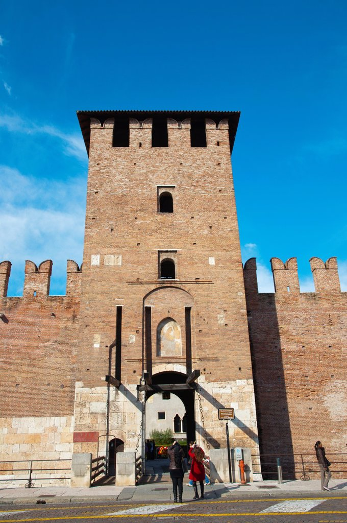 Stock Photo: 1566-1185299 Castelvecchio fortress 1355 Verona city the Veneto region northern Italy Europe