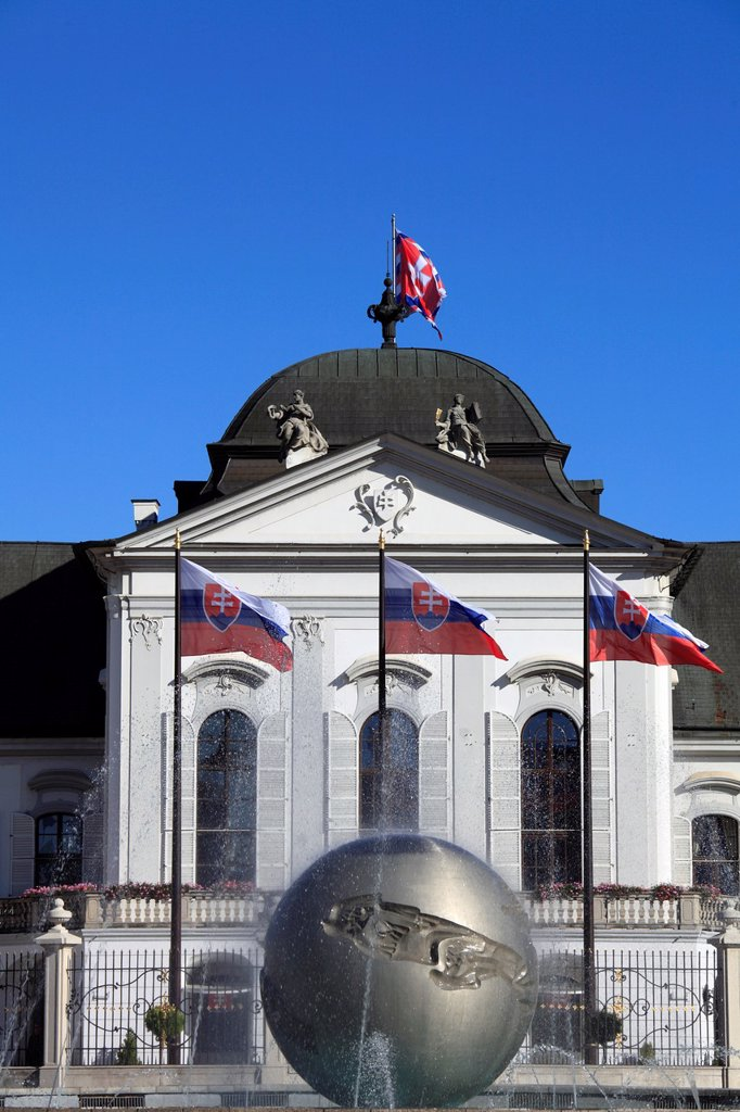 Stock Photo: 1566-1186269 Slovakia, Bratislava, Grassalkovich Palace, President´s Residence,