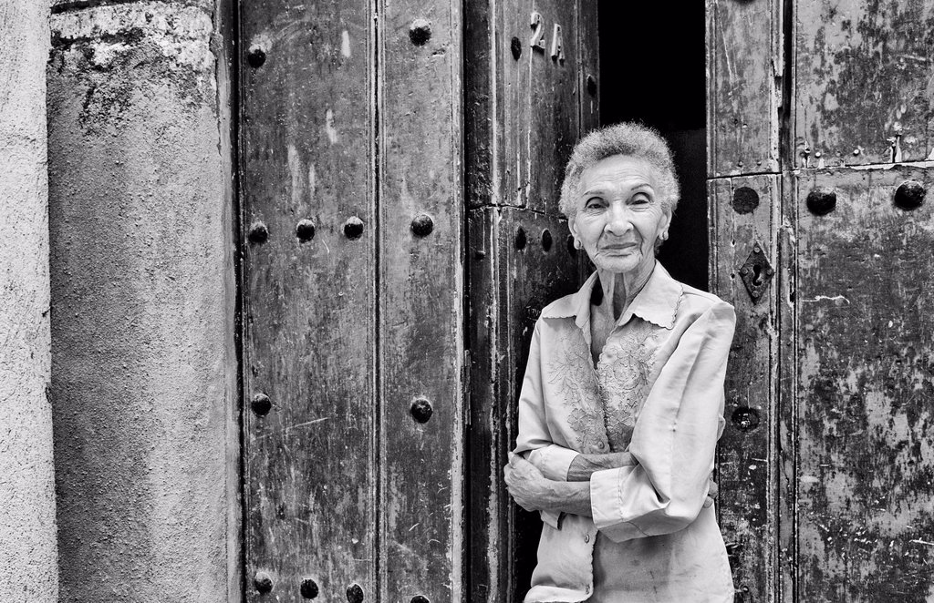 Stock Photo: 1566-1186384 Portrait of older local woman in Santa Clara Cuba