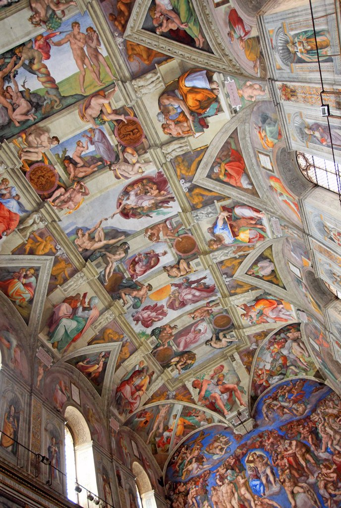 Stock Photo: 1566-1186608 The Sistine chapel by Michelangelo, Vatican, Rome, Italy