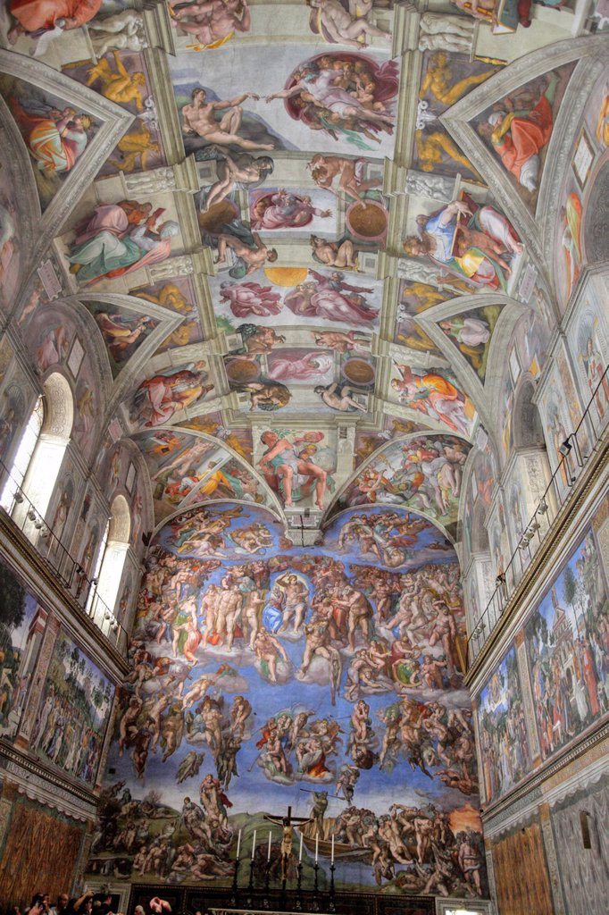 Stock Photo: 1566-1186611 The Sistine chapel by Michelangelo, Vatican, Rome, Italy