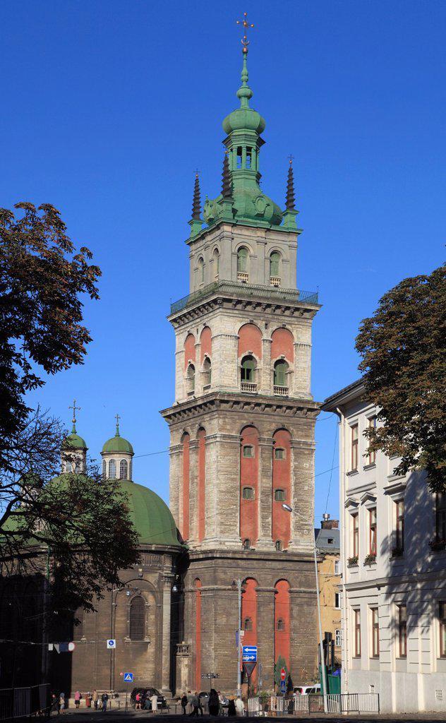 Ukraine, Lviv, Assumption Church, : Stock Photo