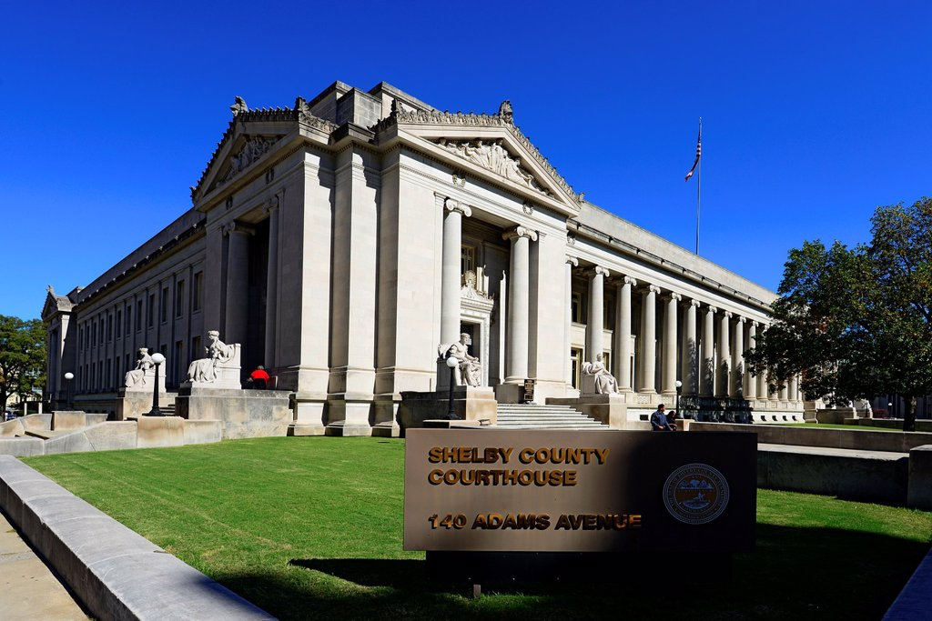 Shelby County Courthouse Memphis Tennessee TN : Stock Photo