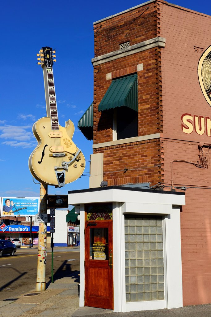 Stock Photo: 1566-1187157 Sun Records Music Studio Elvis Presley Memphis Tennessee TN