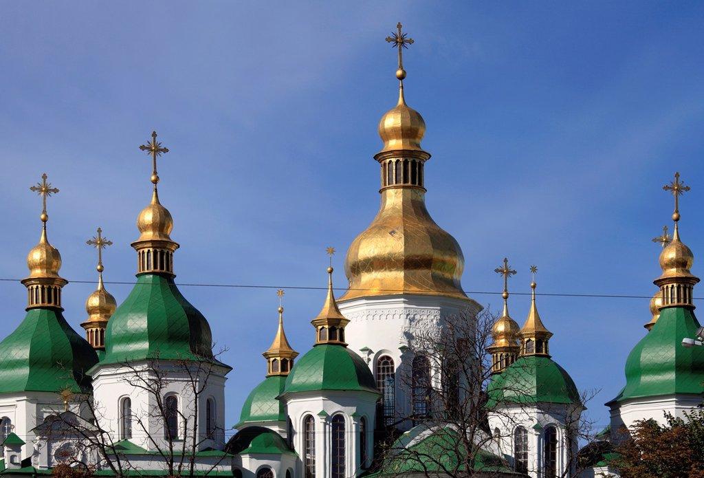 Ukraine, Kiev, Kyiv, St Sophia´s Cathedral, : Stock Photo