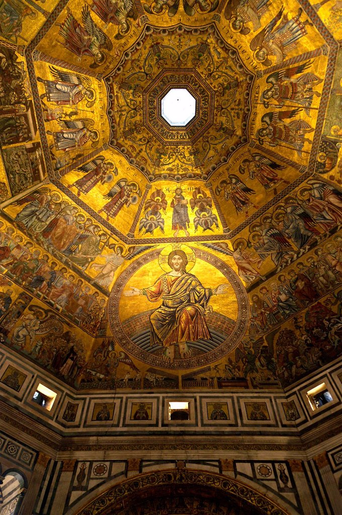Stock Photo: 1566-1187997 Florence Italy  Dome of the Baptistery of St  John in the historical city of Florence