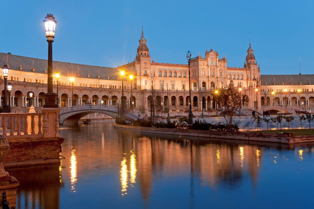 Stock Photo: 1566-1188356 Plaza de España, Seville, Spain