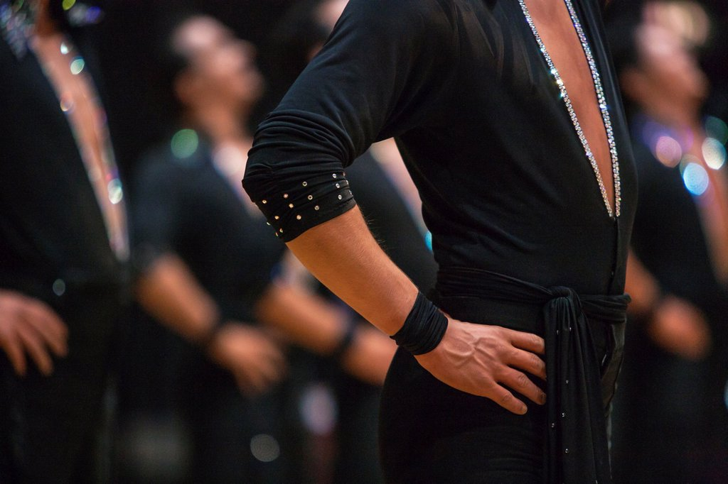 Stock Photo: 1566-1188891 Close up of a male dancer at a dancing competition, Germany, Europe