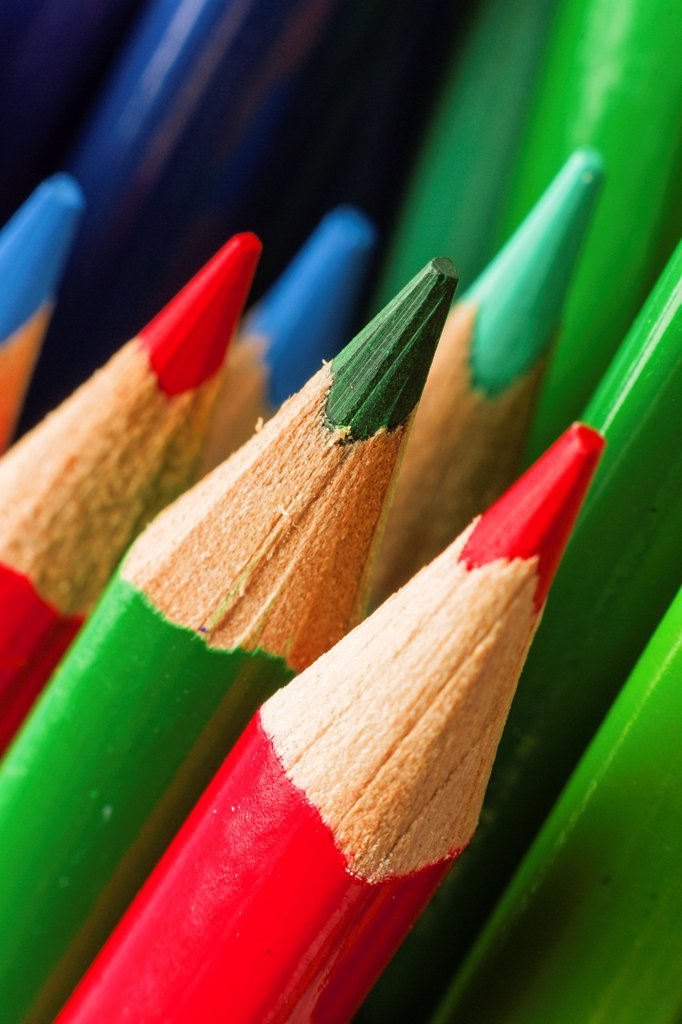 Stock Photo: 1566-1189824 Colored pencils