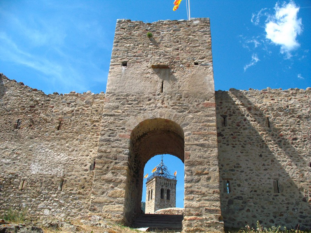 Fortification, Les Angles, Languedoc-Roussillon, Eastern Pyrenees, France. : Stock Photo