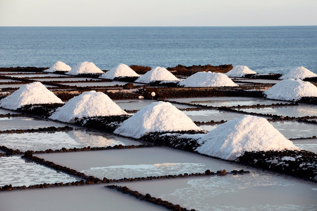 Saltworks, Salinas de Fuencaliente, La Palma, Canary Island, Spain. : Stock Photo