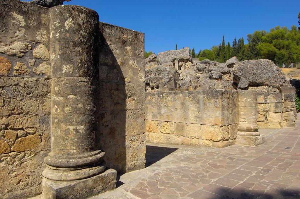 Stock Photo: 1566-1191047 Santiponce, Italica, Romain ruins of Italica, Sevilla, Andalusia, Spain, Europe.