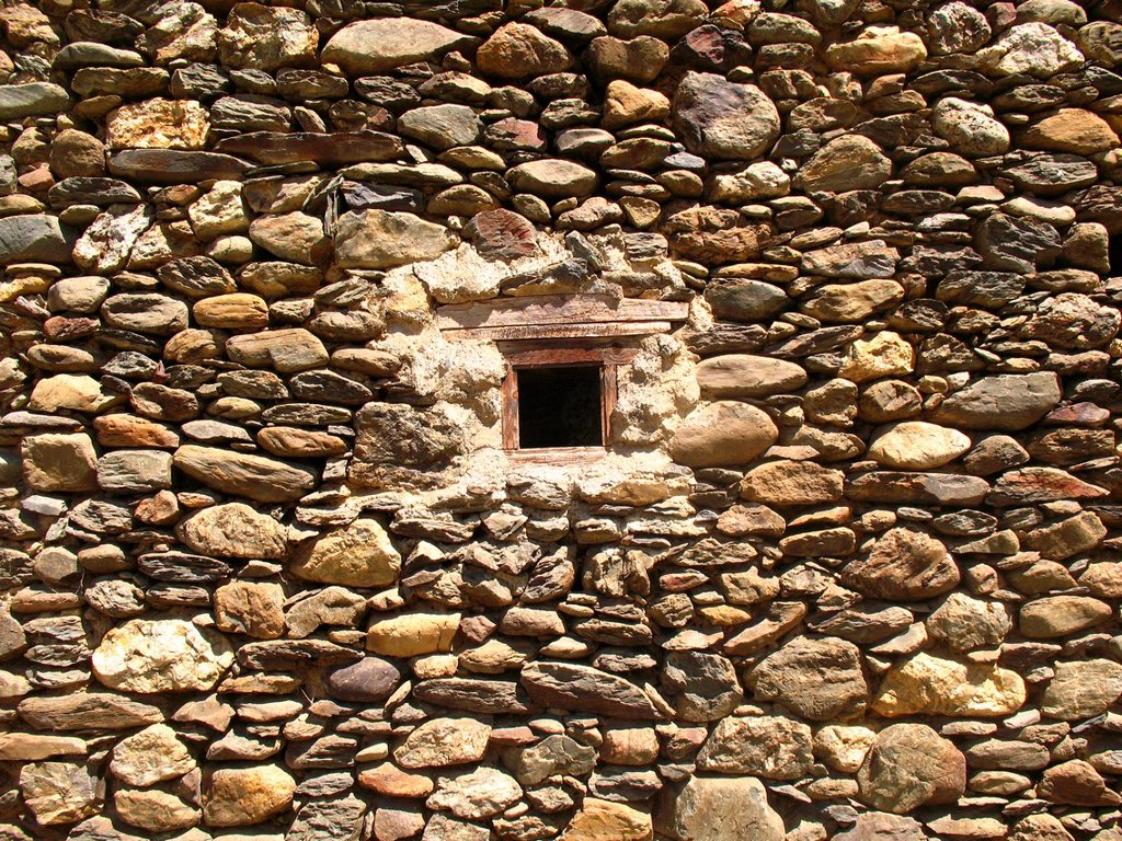 Small window, French Pyrenees. : Stock Photo