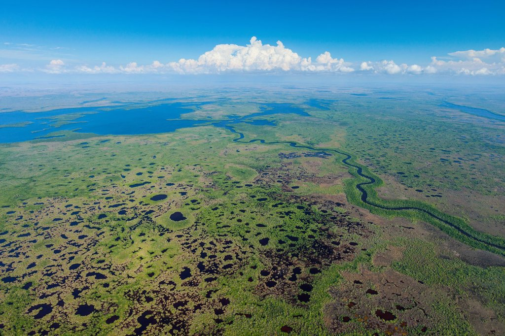 Stock Photo: 1566-1191990 Aerial view, Everglades National Park, Florida, USA.