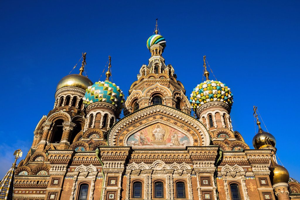 Church of the Savior on Blood, St Petersburg, Russia : Stock Photo