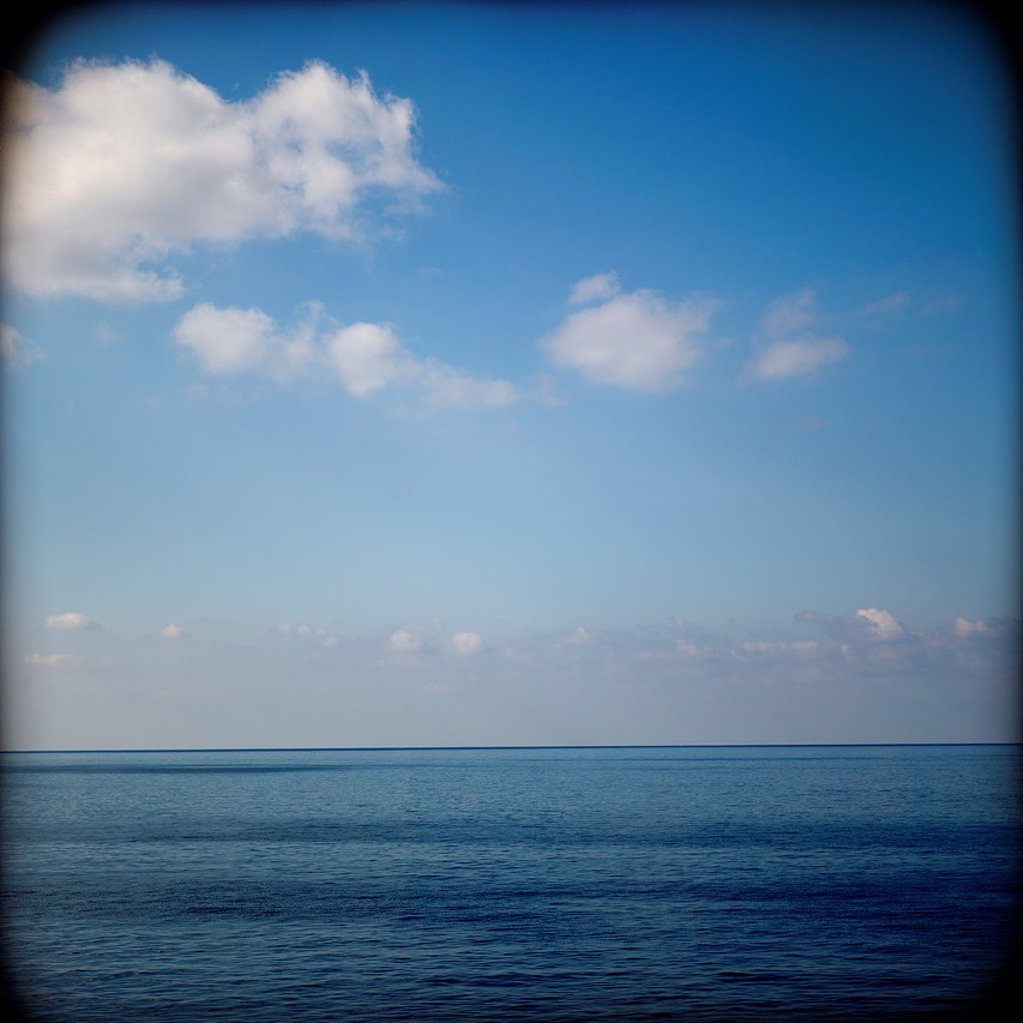 mar, paisaje marino con nubes, sea , seascape with clouds, : Stock Photo