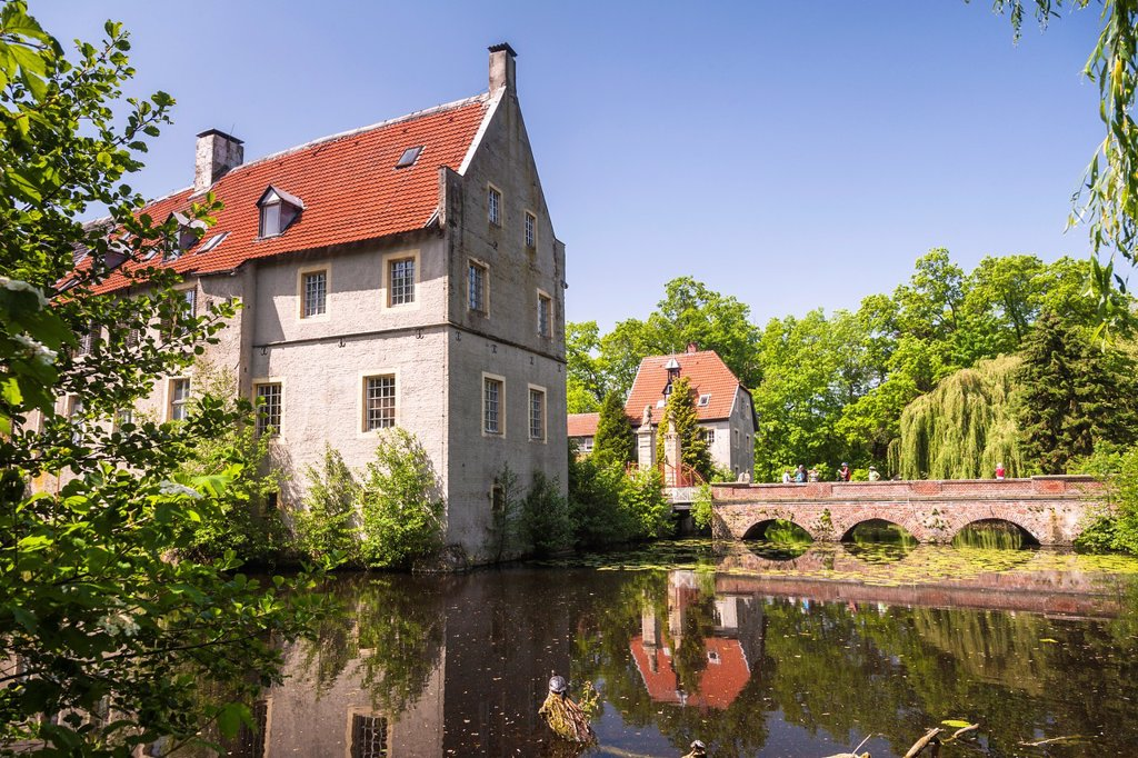 Stock Photo: 1566-1194245 The moated castle of Senden, North Rhine-Westphalia, Germany, Europe