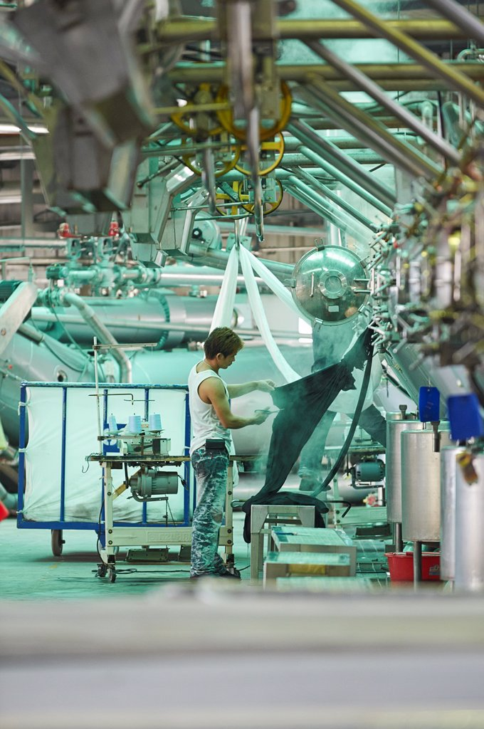 Stock Photo: 1566-1194497 A factory and research laboratory where fabric is researched, produced and manufactured