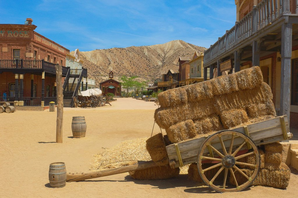 Stock Photo: 1566-1194898 Tabernas, Mini Hollywood Film set , Desert of Tabernas, Almeria Province, Andalusia, Spain