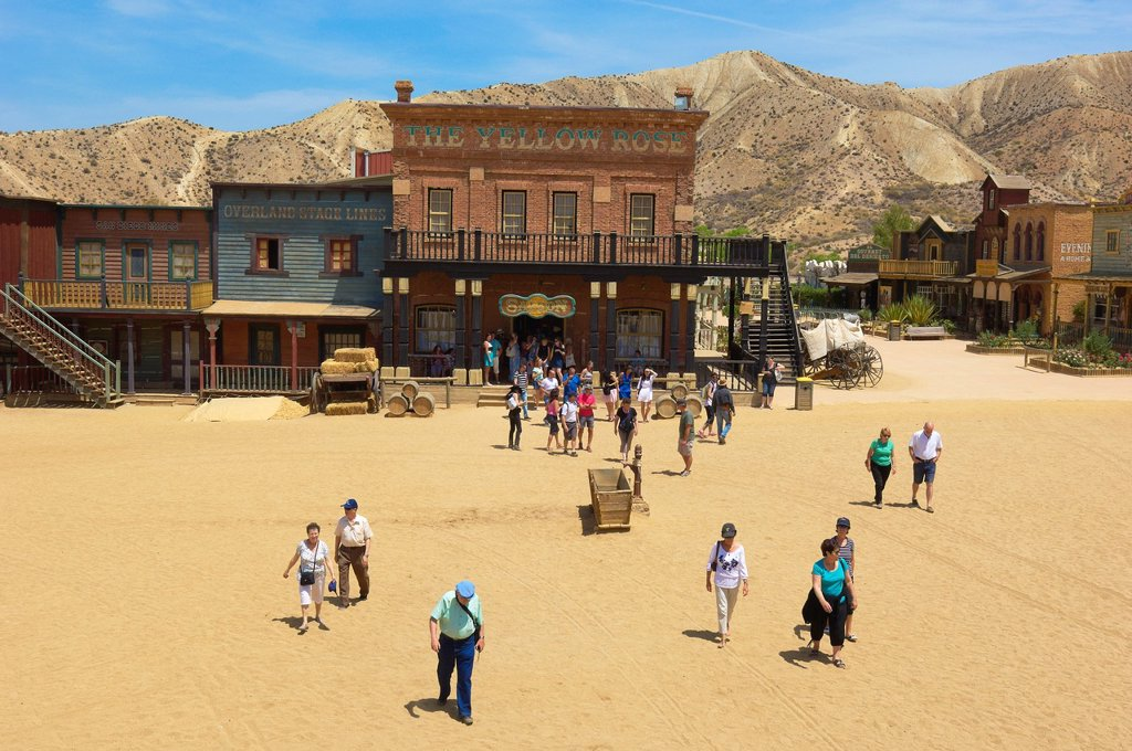 Stock Photo: 1566-1194899 Tabernas, Mini Hollywood Film set , Desert of Tabernas, Almeria Province, Andalusia, Spain