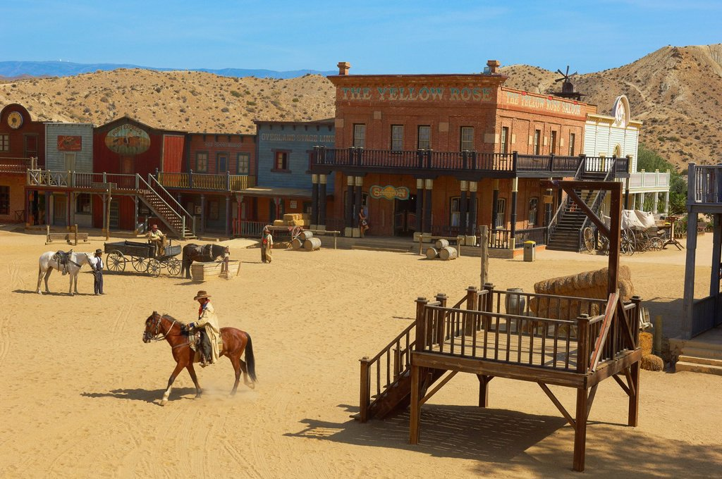 Stock Photo: 1566-1194901 Tabernas, Mini Hollywood Film set , Desert of Tabernas, Almeria Province, Andalusia, Spain