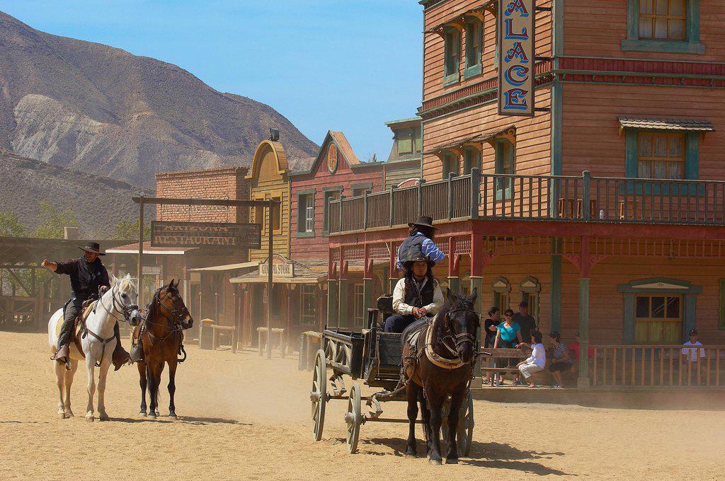 Tabernas, Mini Hollywood Film set , Desert of Tabernas, Almeria Province, Andalusia, Spain : Stock Photo