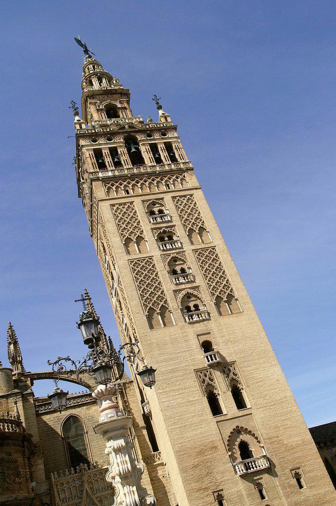 Stock Photo: 1566-1194919 Sevillla Spain The Giralda of Seville