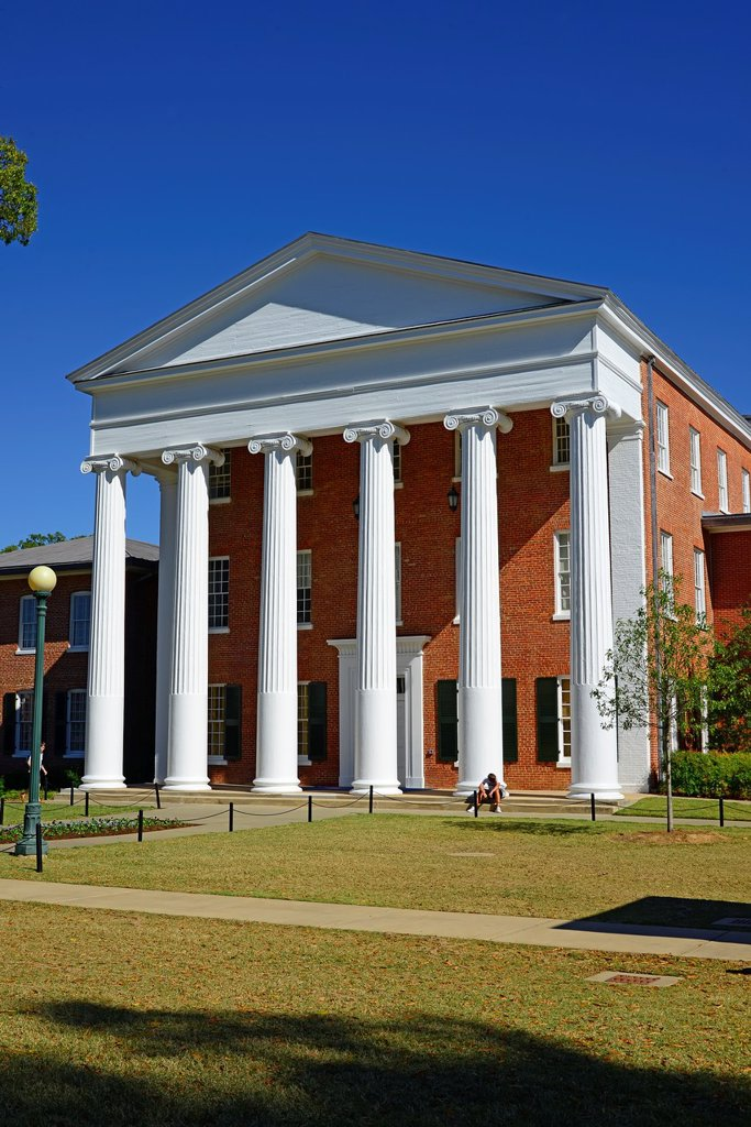 Stock Photo: 1566-1195520 Lyceum Building Ole Miss Campus University Oxford Mississippi MS
