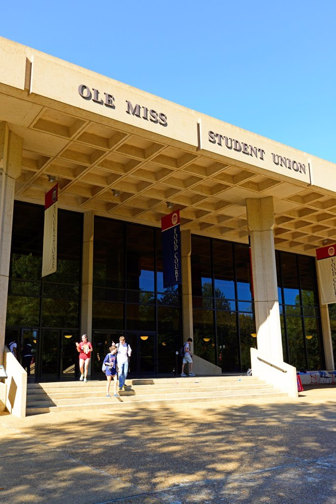 Stock Photo: 1566-1195527 Student Union Ole Miss Campus University Oxford Mississippi MS