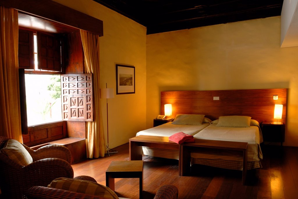 Stock Photo: 1566-1195704 bedroom of La Quinta Roja hotel, Garachico, Tenerife, Canary Islands, Atlantic Ocean
