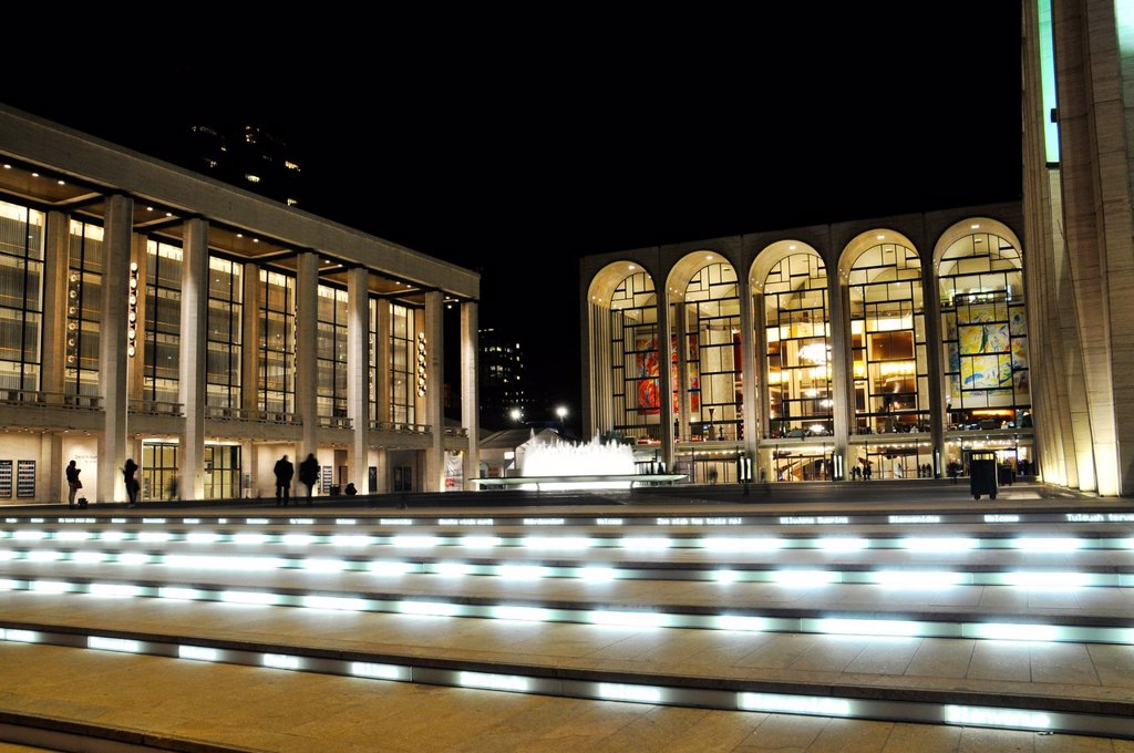 The renovated Lincoln Center Performing Arts center, Broadway, New York City, USA, : Stock Photo