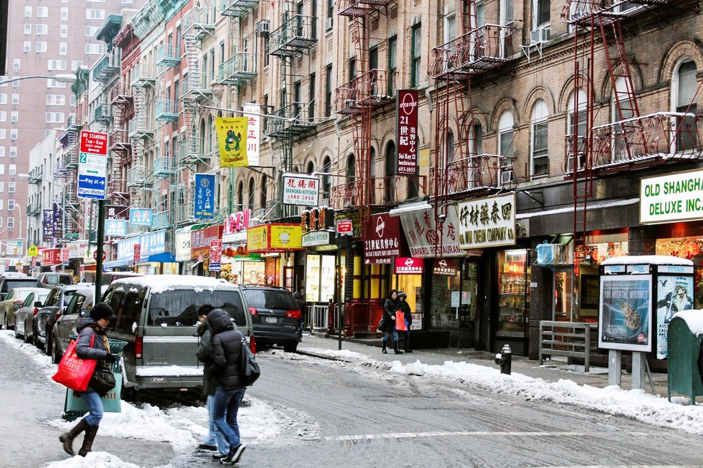 Chinatown in New York : Stock Photo