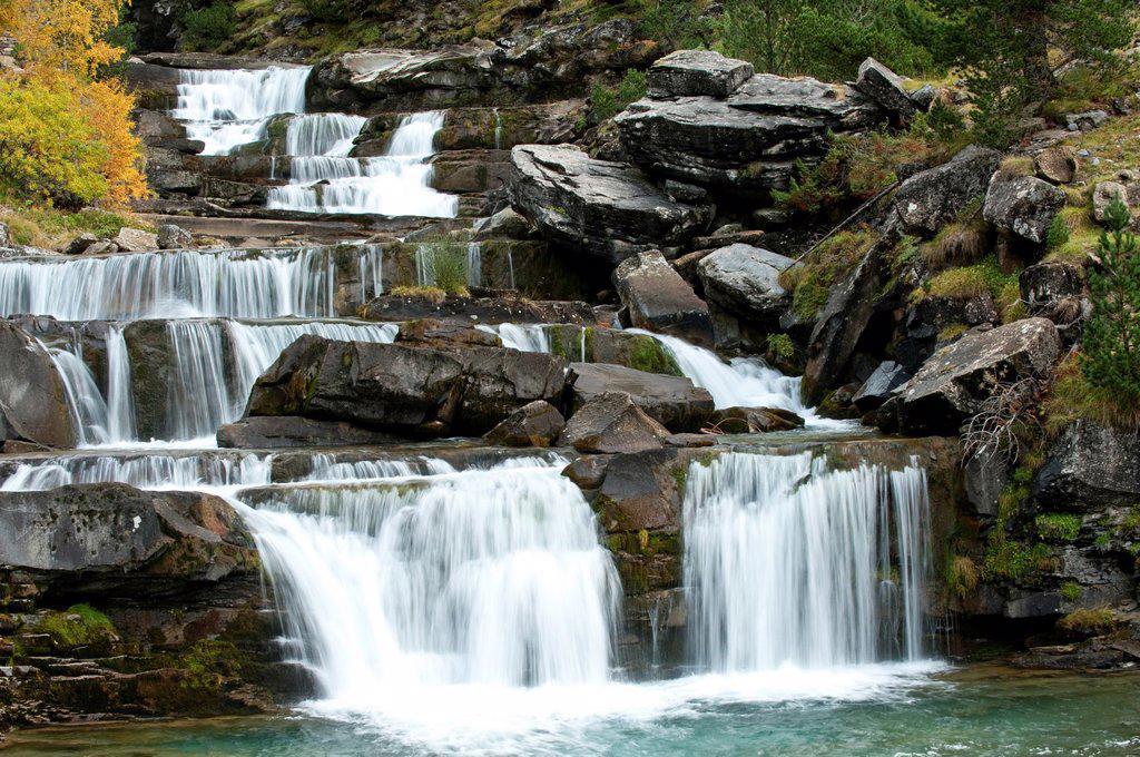 Stock Photo: 1566-1197331 Soaso harrows waterfall, Ordesa & Monte Perdido National Park, Huesca, Aragon ,Spain