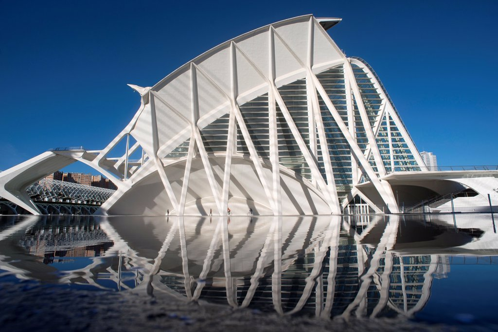 Principe Felipe Musseum, of City of arts and Sciencies, of Valencia, Spain : Stock Photo